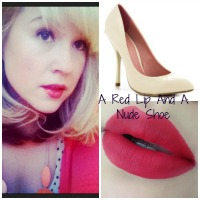 A Red Lip And A Nude Shoe