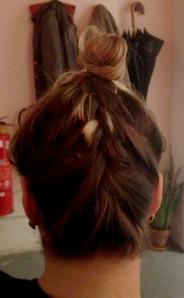 upside down braid