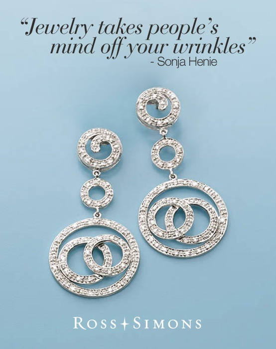 jewellery takes peoples minds off your wrinkles