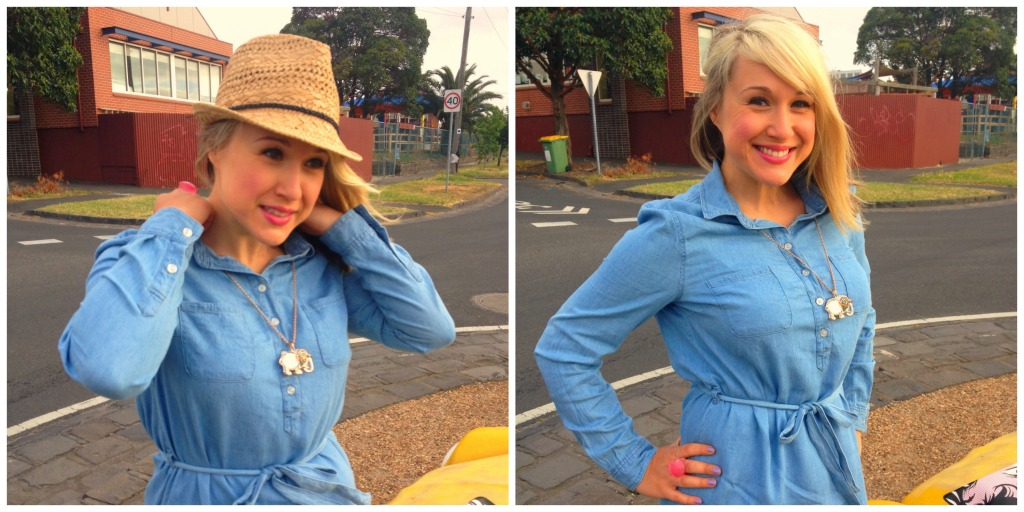 ootd chambray dress2