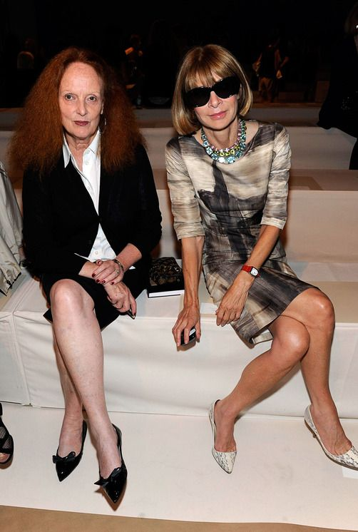 grace coddington + anna wintour