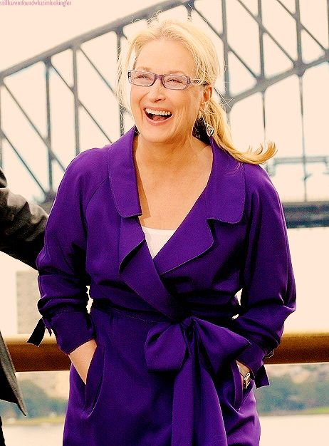 meryl streep laughing