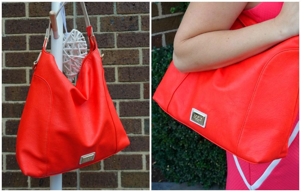colette orange handbag
