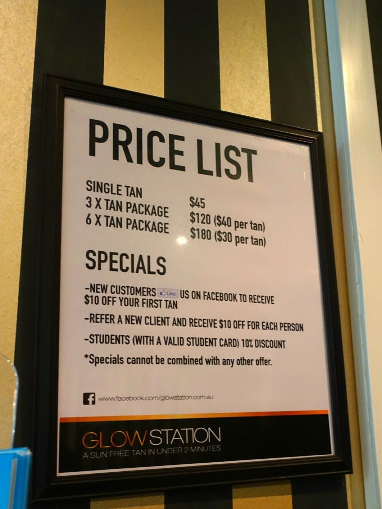 glow station price list