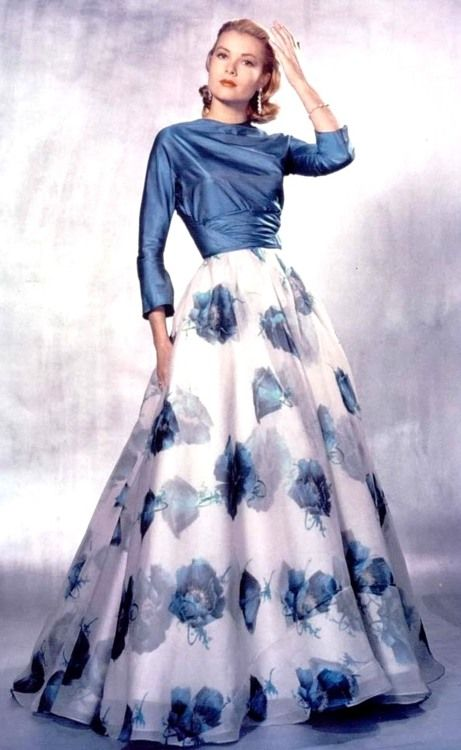 grace kelly blue dress