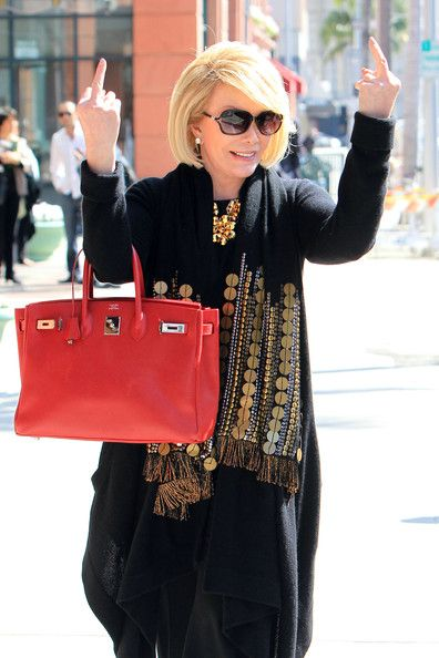 joan rivers middle finger