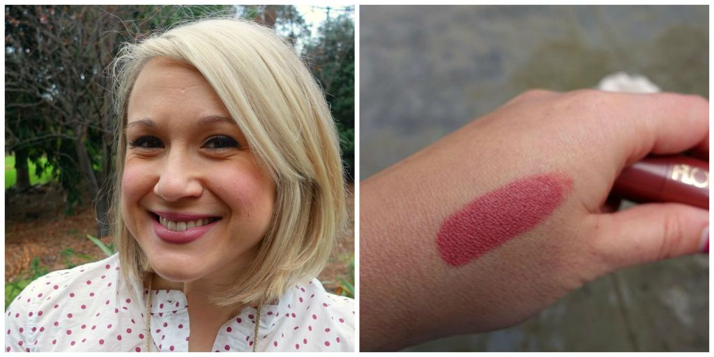 flower lip and cheek chubby swatch and lips