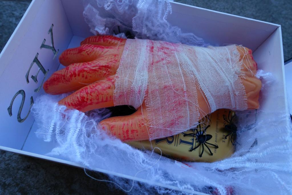 halloween box swap_scary hand